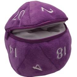 Dice Bag - D20 Plush Purple