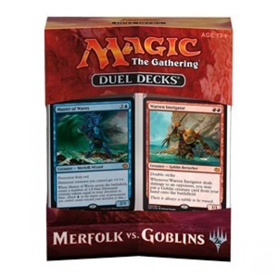 Duel Deck - Merfolk Vs. Goblins (Outer box shows some damage)