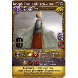 Mage Wars - Joseph Trublood, High Cleric (with foil stamp)