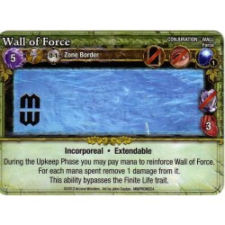 Mage Wars - Wall of Force (with foil stamp)