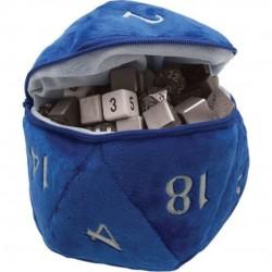 Dice Bag - D20 Plush Blue