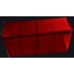 4 Compartment Box - Red