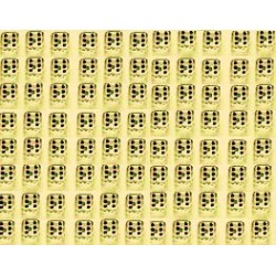 Mini Dobbelsteen D6 (5 mm) - Yellow