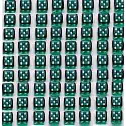 Mini Dobbelsteen D6 (5 mm) - Green