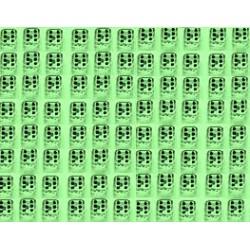 Mini Dobbelsteen D6 (5 mm) - Light Green