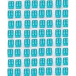 Mini Dobbelsteen D6 (5 mm) - Light Blue