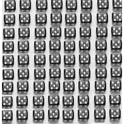 Mini Dobbelsteen D6 (5 mm) - Transparant
