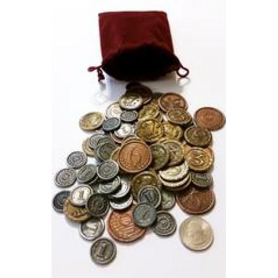 7 Wonders Duel - Metan Coins + Coin Bag