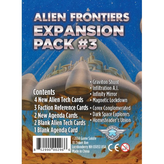 Alien Frontiers - Expansion Pack 3