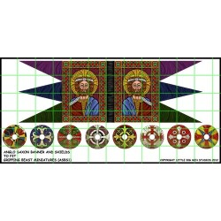Anglo Saxon Banner and Shields Transfers