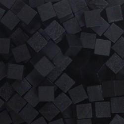 Wooden Cubes 8 mm - Black (10 pcs)