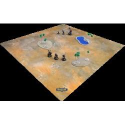 F.A.T. Playmat - Bloodstone Desert (4 x 4 ft) + Storage Bag