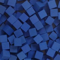 Wooden Cubes 8 mm - Blue (10 pcs)