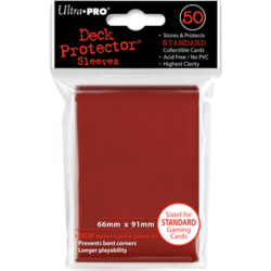 Sleeves - CCG Red  (50 pcs - Ultrapro)