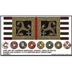 Dark Age Celt/Hiberno Norse/Gall-Geadhil Banner and Shields Transfers