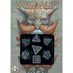 Dwarven Dice - Polydice Set Grey/Black