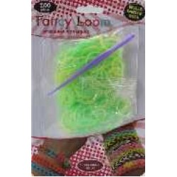 Fancy Loom Blister - Green/Yellow Bands (Glow in the Dark)
