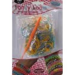 Fancy Loom Blister - Blue/Orange Bands (Glitter)