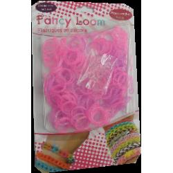 Fancy Loom Blister - Pink/Violet Bands (Glitter)