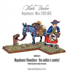 Black Powder Napoleonic - French Vivandiere & Donkey