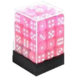 D6 (36 pcs - 12 mm) - Frosted Pink