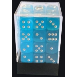 D6 (36 pcs - 12 mm) - Frosted Carribbean Blue