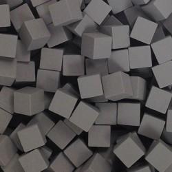 Wooden Cubes 8 mm - Grey (10 pcs)