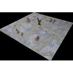 F.A.T. Playmat - Iron Kingdoms City Streets (4 x 4 ft) + Draagzak