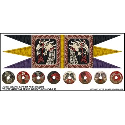 Joms Viking Banner and Shields Transfers