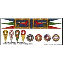 Late Saxon Banner and Shields Transfers