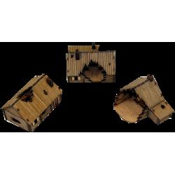 Damaged Timber Log Village (15 mm)