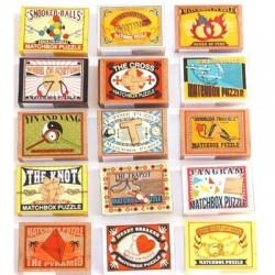 Brain Game puzzle - Matchbox puzzle (15 different available)