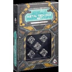 Metal Tech Dice - 5x D6