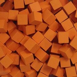 Wooden Cubes 8 mm - Orange (10 pcs)