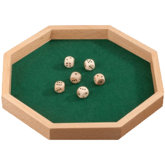 Dice Tray with Dice