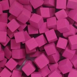 Wooden Cubes 8 mm - Pink (10 pcs)