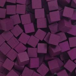 Wooden Cubes 8 mm - Purple (10 pcs)