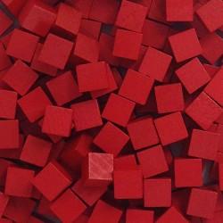 Wooden Cubes 8 mm - Red (10 pcs)