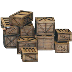 Shipping Crates and Freight Boxes (15 mm)