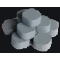 Wooden Game Pieces - Stone (10 pcs)