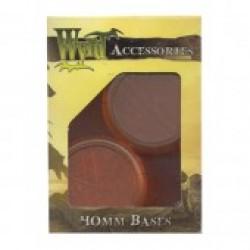 Bases Translucent Orange Round 40 mm (5 pcs)