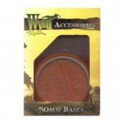 Bases Translucent Orange Round 50 mm (3 pcs)