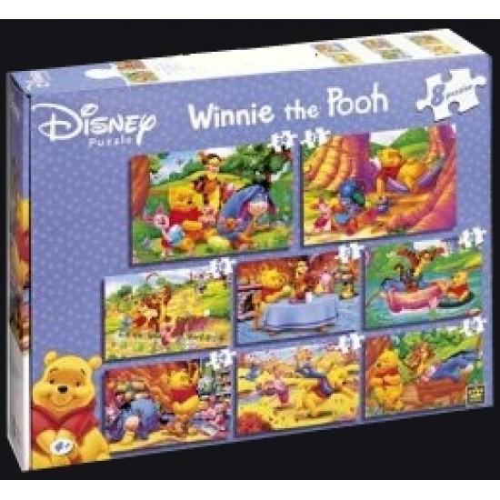 Disney - Winnie The Pooh 8 in 1 Puzzel