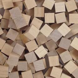 Wooden Cubes 8 mm - Neutral (10 pcs)