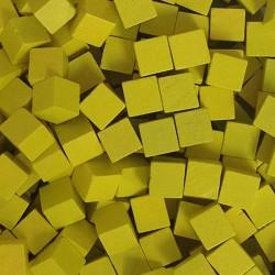 Wooden Cubes 8 mm - Yellow (10 pcs)
